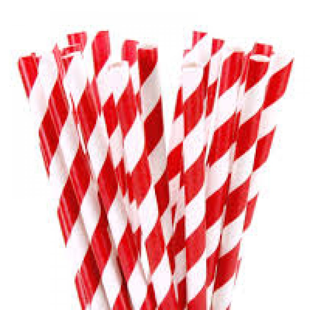 Made in Britain Red Paper Straws Biodegradable//Eco-Friendly//Highly Durable//Food Safe//Suitable for All Occasions 6mm x 200mm - Pack Size 500